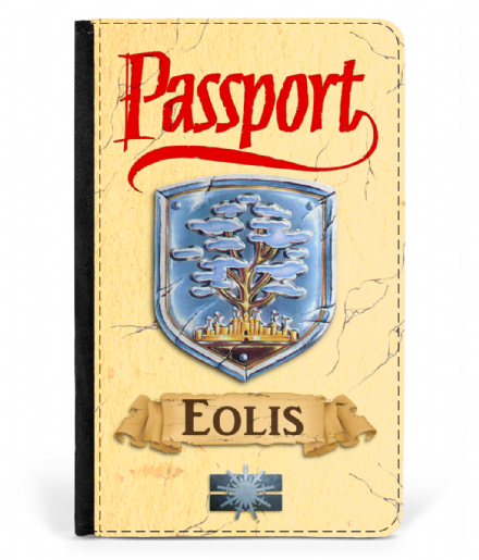 Eolis - World Tree - Faux Leather Passport Cover Protector Inspired by Faxanadu